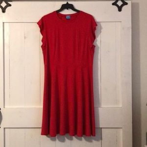 City Chic sz 18w Red, Cap Sleeve, Mid Length Dress